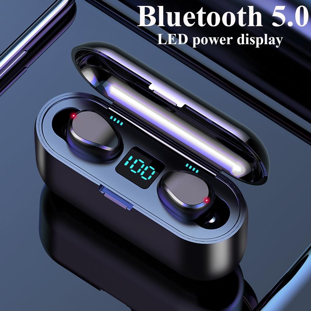F9 Bluetooth kopfhörer Stereo wireless headset HIFI sound sport kopfhörer Hände-freies gaming headset Mit mikrofon Für iphone