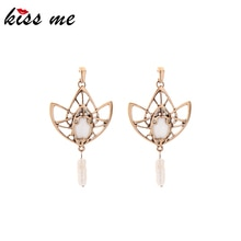 Kissme 2020 nouveau boucles doreilles pour femmes mignon cristal résine chauve-souris Baroque perle de culture boucles doreilles Vintage mode bijoux