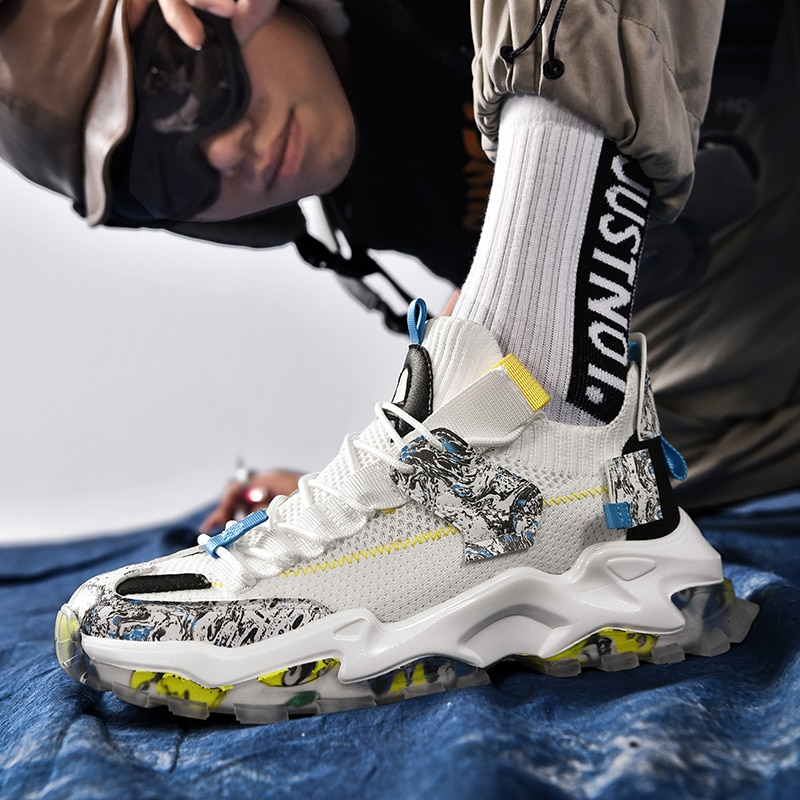 صنادل رياضية حذاء رياضة حذاء كاجوال موضة أحذية رياضية تنفس شبكة الانزلاق على الرجال منخفضة أعلى الذكور من الشارع الشهير للسلامة