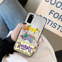 hpchcjhm cartoon amine girl black tpu soft phone case cover for samsung s20 plus ultra s6 s7 edge s8 s9 plus s10 5g