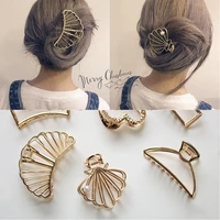 fashion cute hair claws clips for women girls hairgrips metal star shell hairpin barrette bobby hair accessories