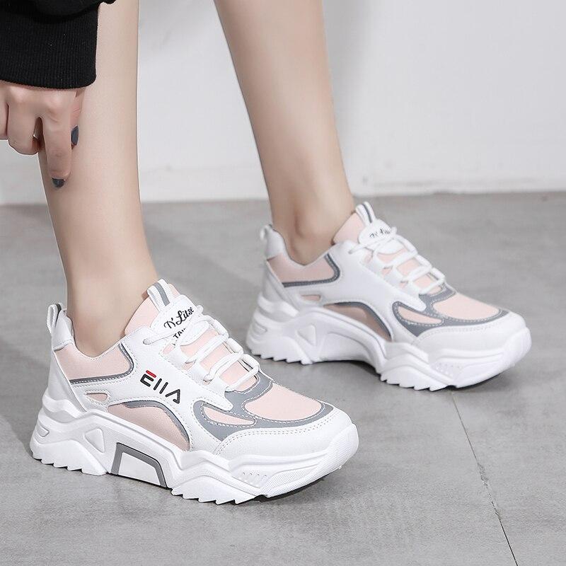 Zapatillas de deporte de marca para mujer, zapatos deportivos informales de malla...