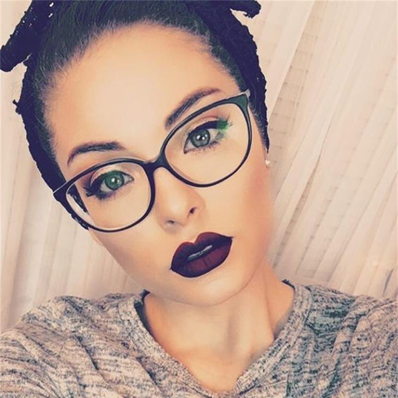 Fashion Women Cat Eye Eyeglasses Frame Men Optical Glasse Frame Retro Eyeglasses Computer Glasses Transparent glasses