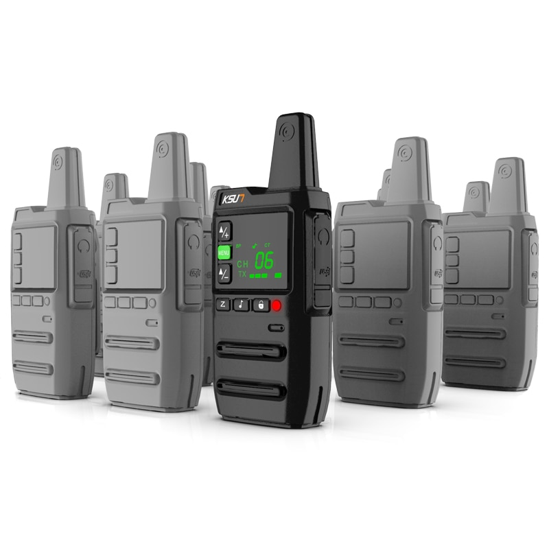 1 Or 2 KSUN GZ20 Legal Frequency European Frequency PMR 446MHZ FRS Walkie Talkie Professional Mini Two Way UHF Radio Transceiver
