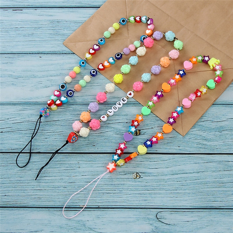 cute-acrylic-beads-phone-chian-lanyard-soft-clay-beaded-hanging-for-mobile-phone-cord-string-ornament-accessories-random-color