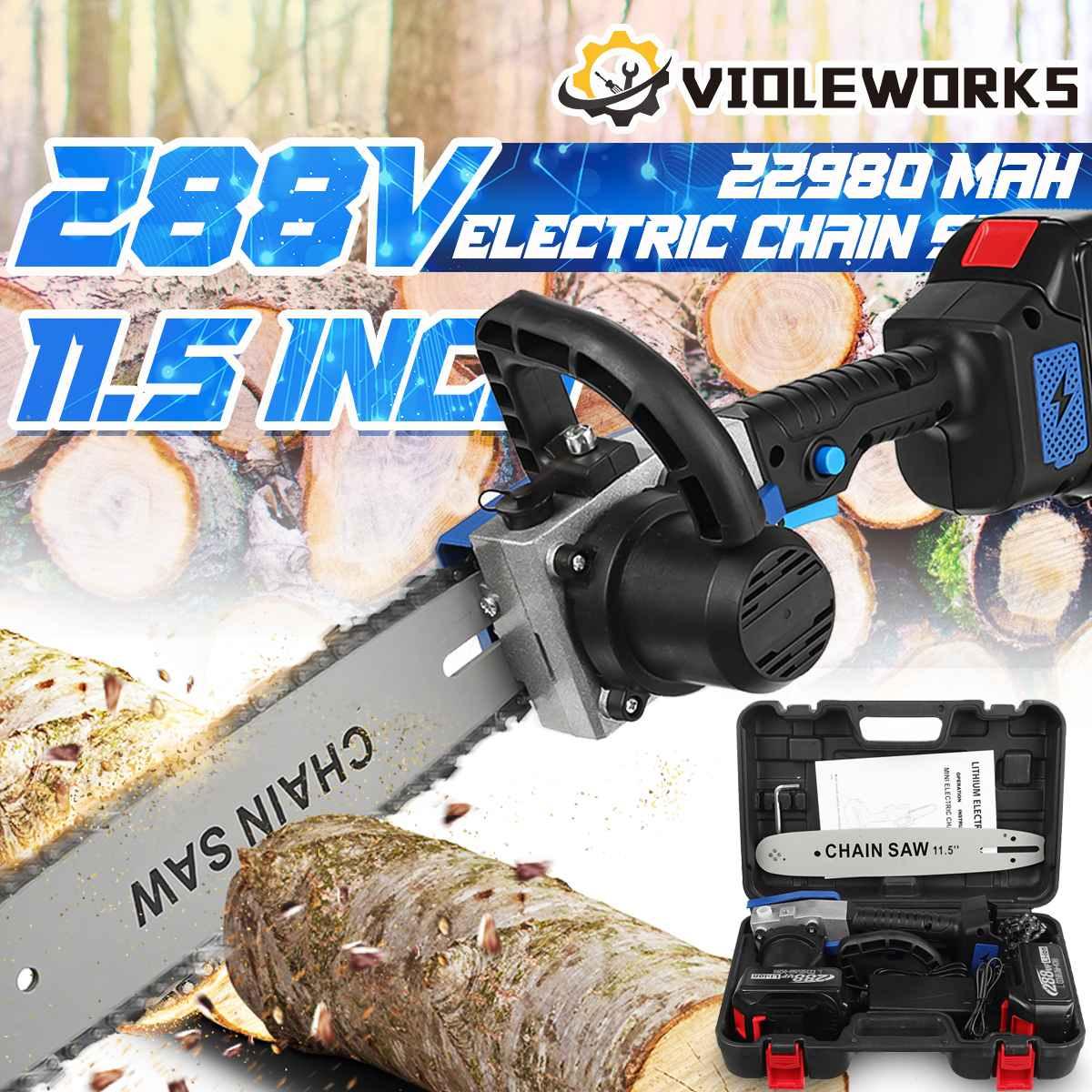 288VF 11.5 بوصة منشار كهربائي بالمنشار مع 2 قطعة 22980mAh بطارية فرش السيارات قاطع خشب قابلة للشحن لبطارية ماكيتا