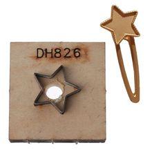 Chat lune ronde pince à cheveux en bois Lasers poinçonnage moule de découpe fabrication de bijoux 83XF