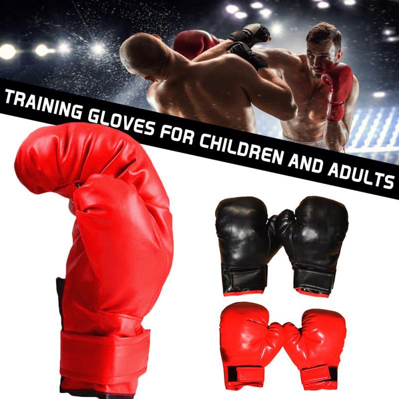 Guantes De boxeo Muay Thai MMA De alta calidad para adultos y niños, guantes De boxeo para hombres y mujeres, equipos De entrenamiento Sanda 8