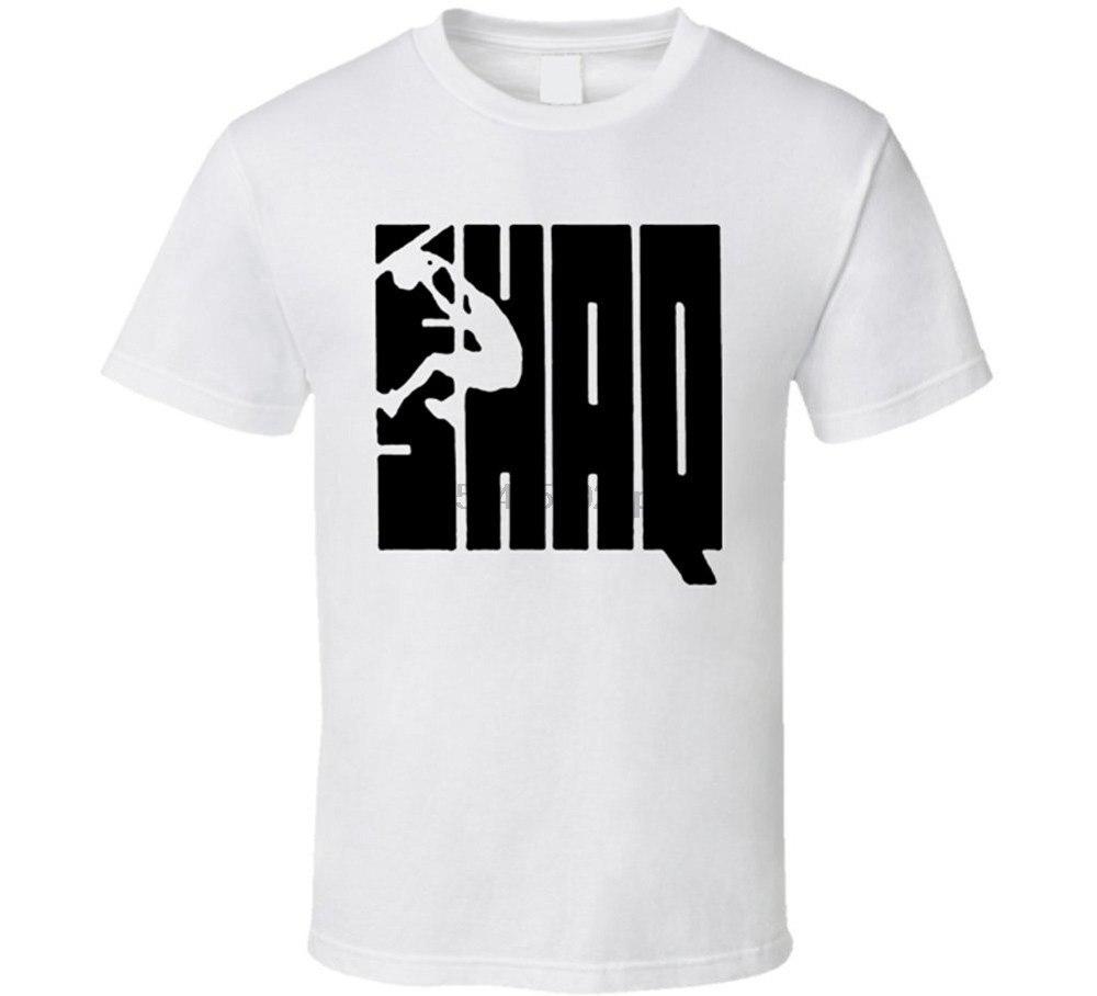 2019 Streetwear Short Sleeve Tees Shaq Attack Style T Shirt Short Sleeves Cotton Tops Shirts Men Casual T-shirt