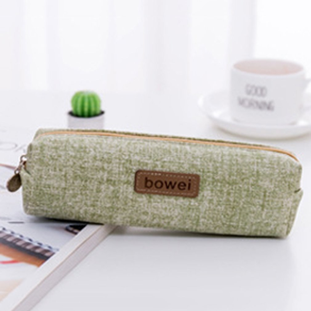 Bolsa de lápiz creativa de lona Corea caja de lápices de gran capacidad estudiante femenina caja de lápiz simple bolsa de lápiz