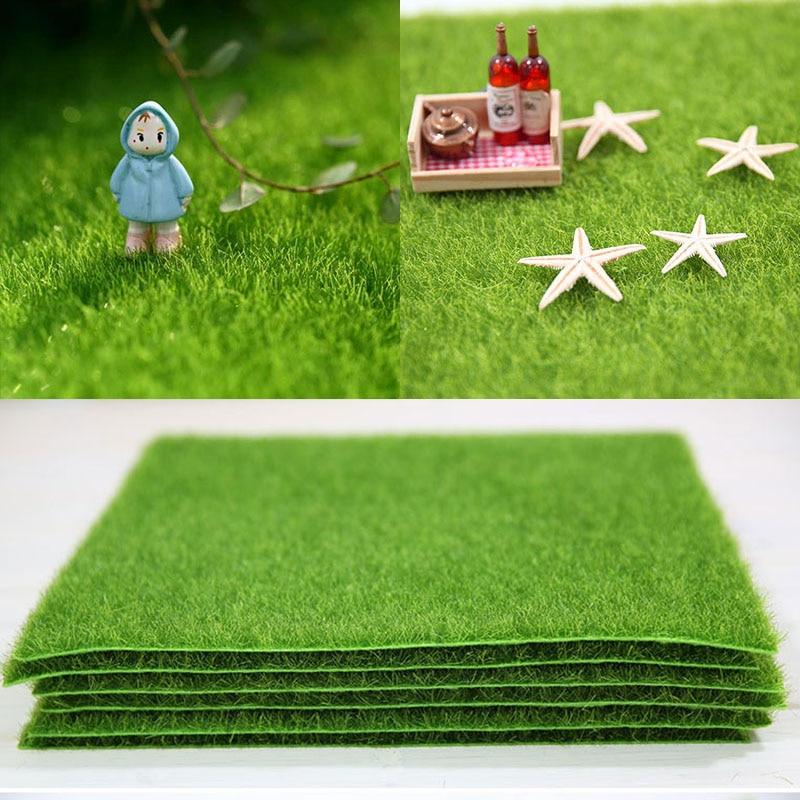 30*30cm Künstliche Grünland Simulation Moos Rasen Rasen Gefälschte Gras DIY Micro Landschaft Deco Liefert Weding Party Garten ornament