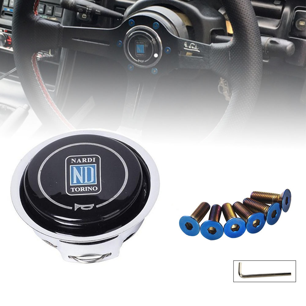 Universal ND Horn Cover Metal + Plastic Modified Car Horn Button Racing Car Steering Wheel Horn Cover horn