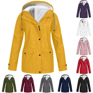 Women Jackets Winter Autumn Ladies Hooded Outdoor Raincoat Zipper Windbreaker Waterproof Outwear S-5XL Mujer Coat