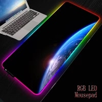 mairuige earth space rgb gaming thicken mousepad 30x8040x90cm large led lighting mouse pad desk pad keyboard mat xxl for csgo