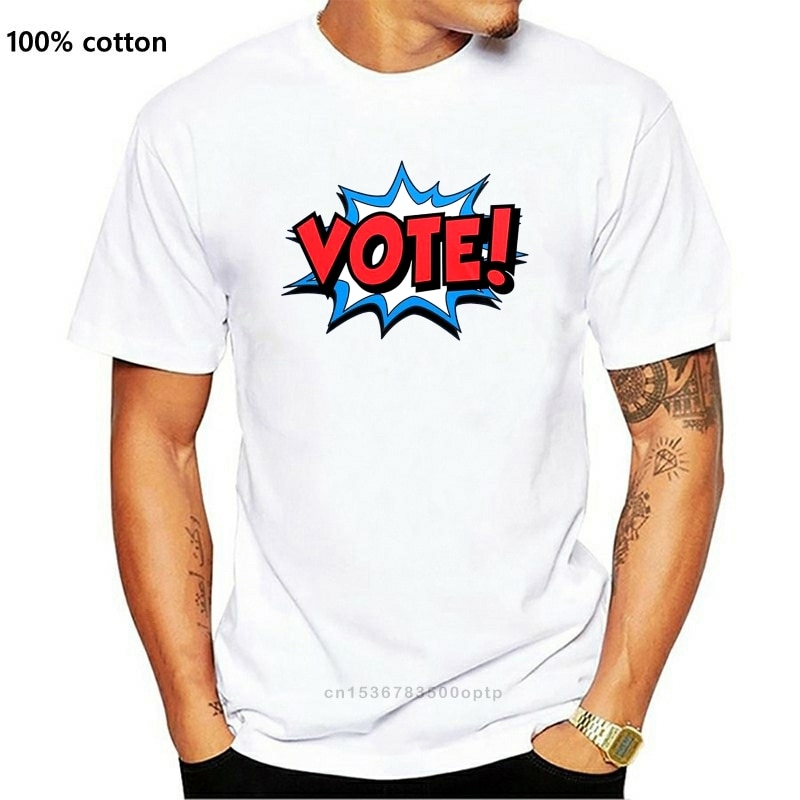 New Election Comic Style VOTE! Light Blue Adult T-Shirt