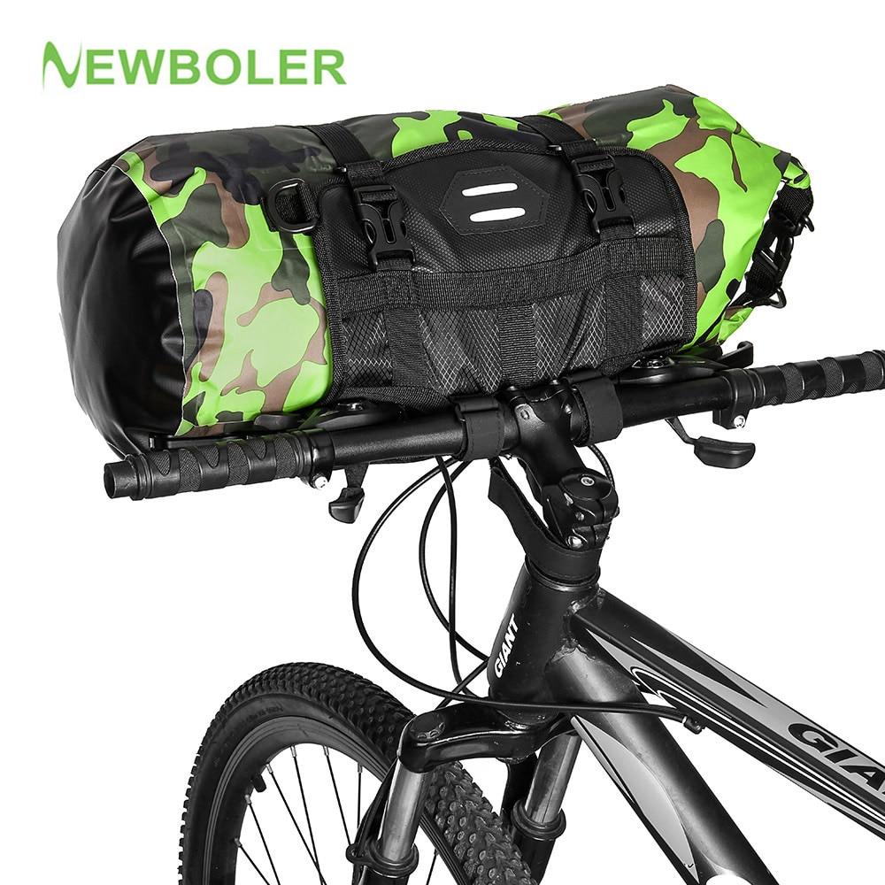 NEWBOLER-bolsa delantera para manillar, a prueba de agua, de gran capacidad, para bicicletas de montaña