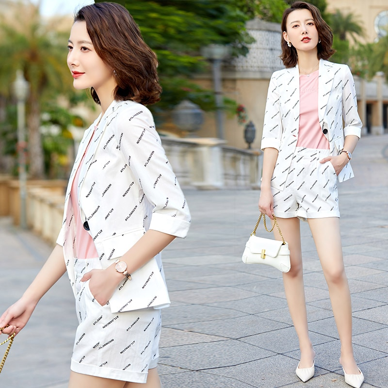Shorts Small Suit Outfit Women's Spring/Summer 2021 New Korean Casual Fashion Western Style Youthful