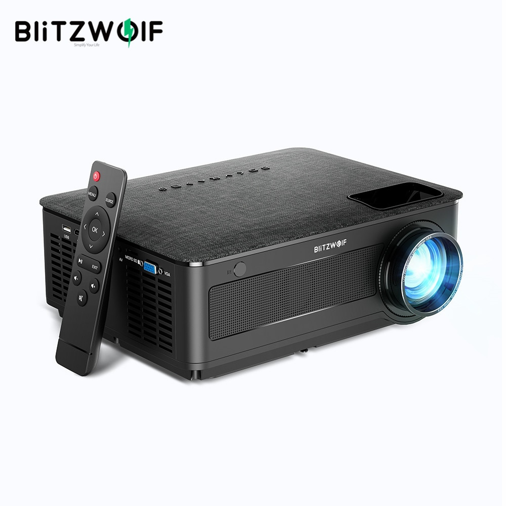 Blitzwolf BW-VP10 LCD Full HD Projector 1920x1080P 6500 Lumens Ports for Fire TV Stick Smart Home Po