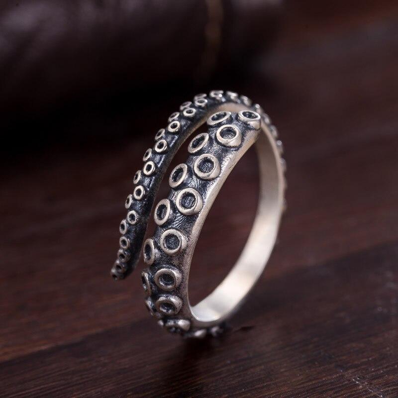 Anillo de personalidad a la moda para hombre y anillo de acero de titanio con ola de marea con personalidad anillo de malla resistente al viento Kazakhstan