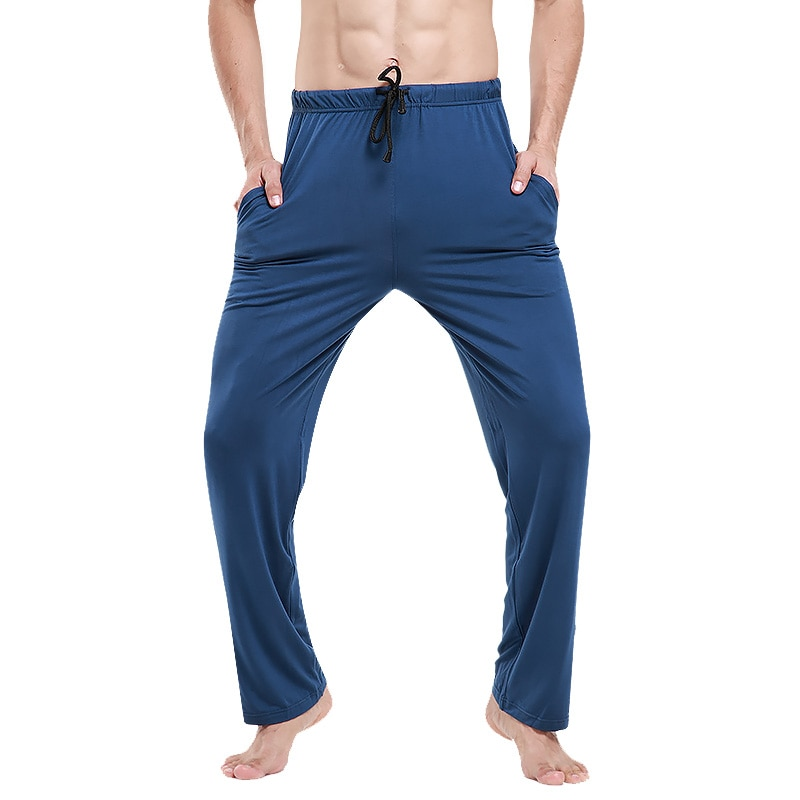 High Quality Soft Men's Pajama Summer Modal Cotton Lounge Pants Bottoms Tether Pocket Sleep Pants For Male Casual Home Trousers