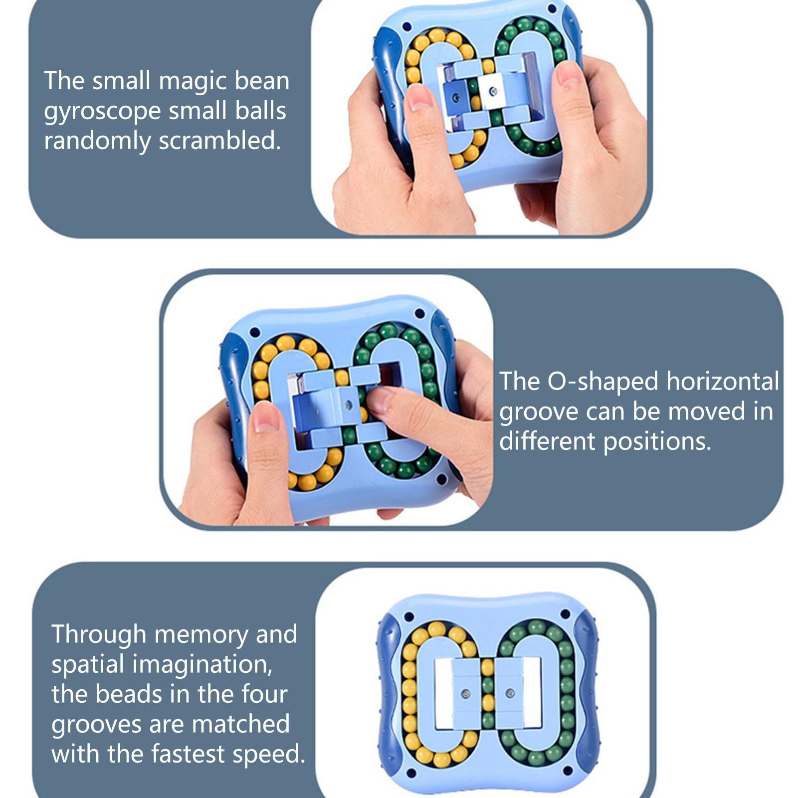 Fidget Toys Rotating Magic Bean Intelligence Fingertip Children Anti-Stress Finger Gyro Magic Disk Educational Toys enlarge