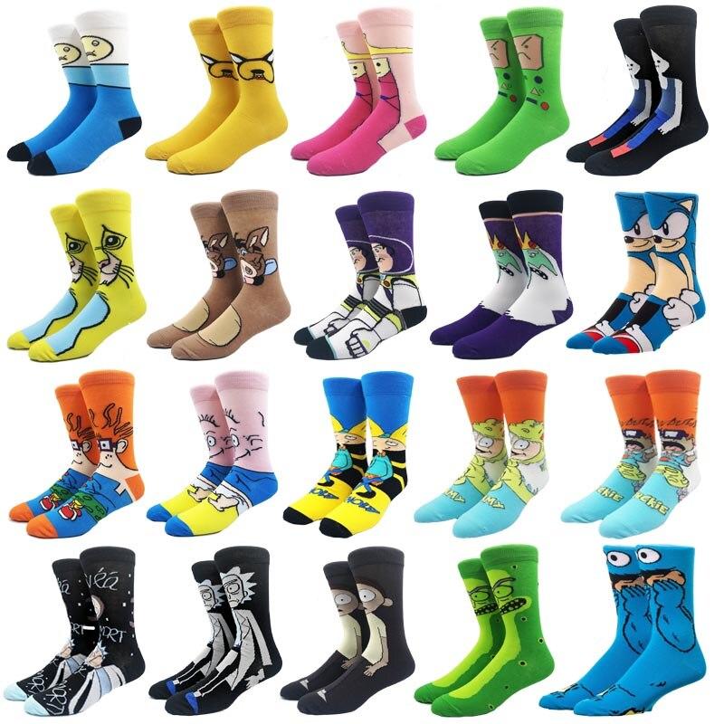 Cartoon Men socksAnime Cotton Funny Short Sock hip hop personality anime socks Streetwear Fashion Casual couple socks Skarpetki