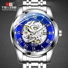 2020 TEVISE Skeleton Men Watches Mechanical Automatic Male Watch Sport Clock Casual Business Luminou
