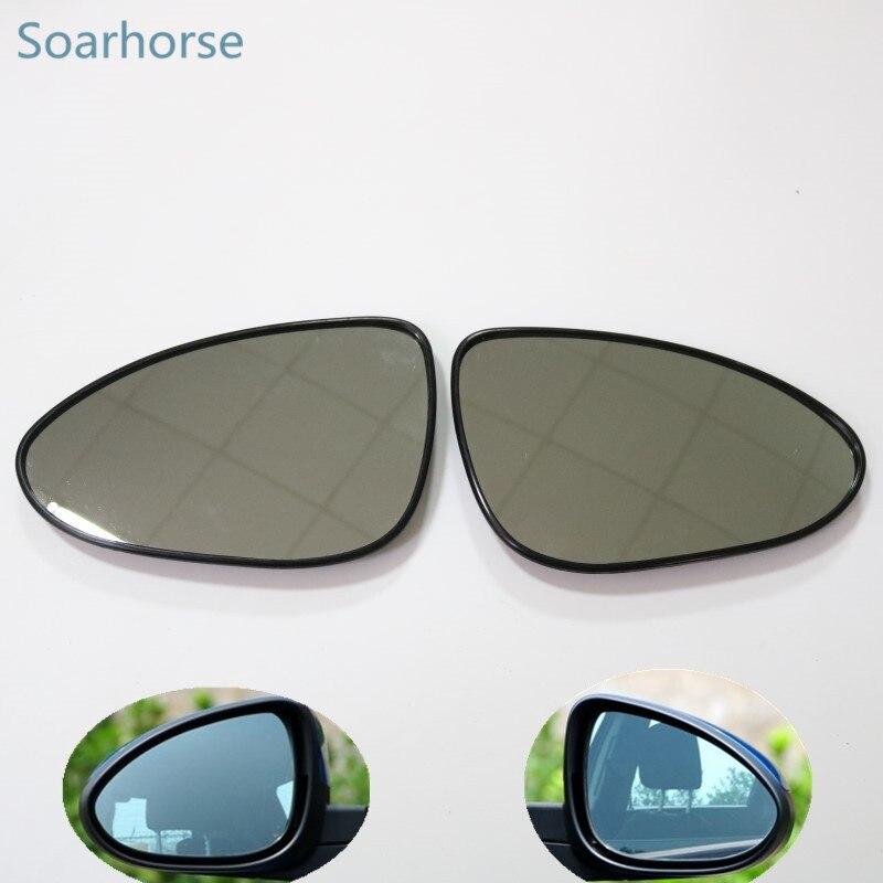 Soarhorse Chevrolet Aveo için kanat ayna cam Araba yan dikiz aynası cam lens isıtmalı fonksiyonu Ile