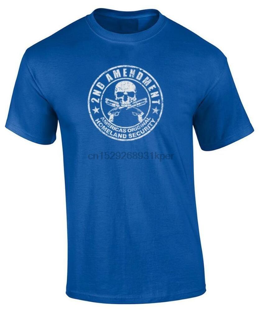 2nd Amendment Gun T-Shirt Americas Original Homeland Security Distressed Tee