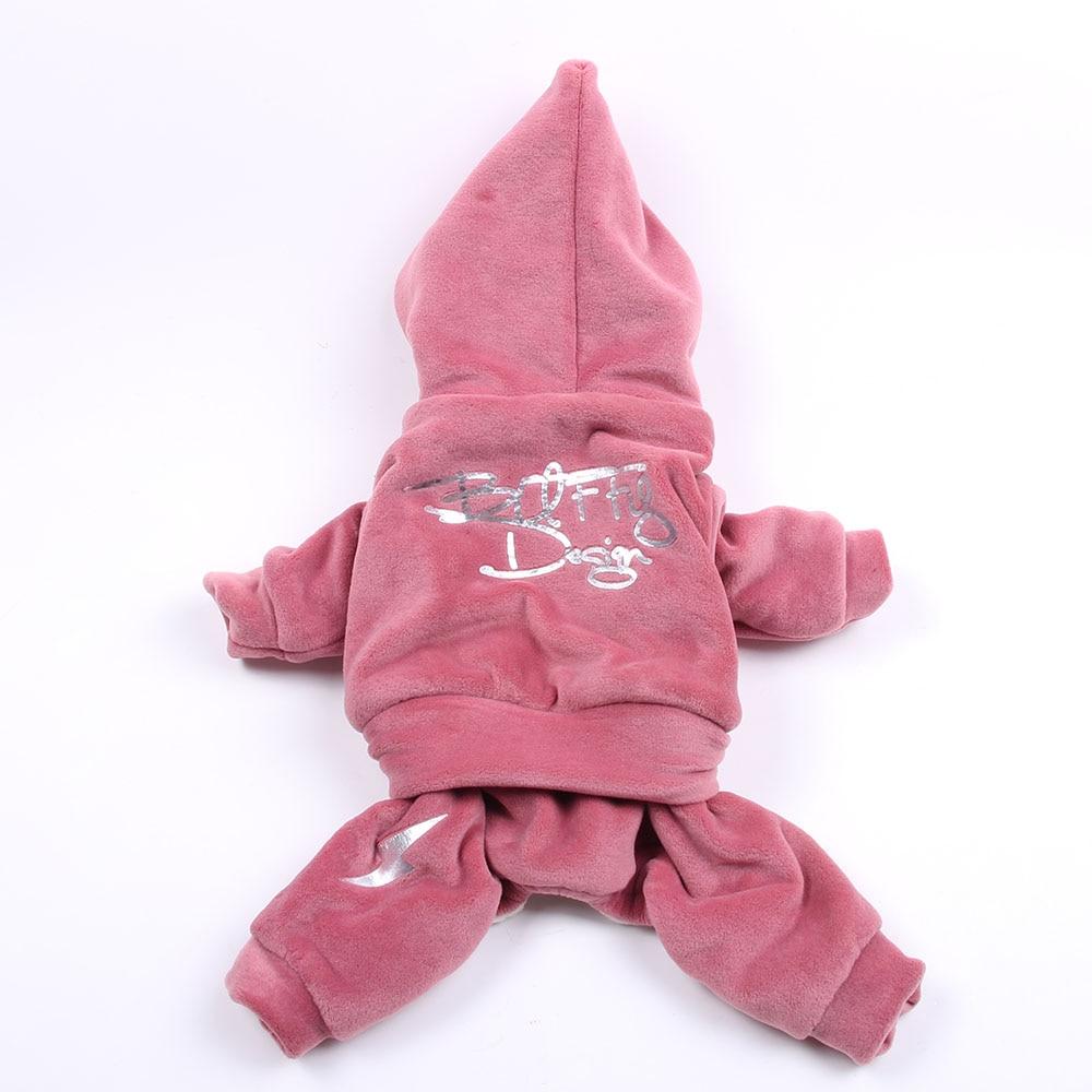 Nueva chaqueta con capucha para perro mascota de terciopelo, mono de lana para cachorros de gato, ropa de abrigo de invierno