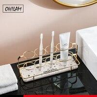 Подставка для электрической зубной щетки Diatomite, впитывающие аксессуары для ванной с диатомом, коврик для сушки воды и очищения лица, лоток д...