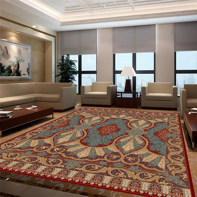 سجادة فارسية أوروبية لغرفة المعيشة ، teppich ، ديكور منزلي ، أريكة ، طاولة قهوة ، حصيرة أرضية ، غرفة مرحاض ، سجاد منطقة
