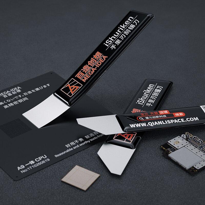 IShuriken-cuchillo de estaño para pasta de soldadura de Metal con memoria, boca...