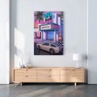 Mur Art modulaire toile 80s cinema retro Synthwave photos maison voiture decor peinture imprime affiche salon Cuadros pas de cadre