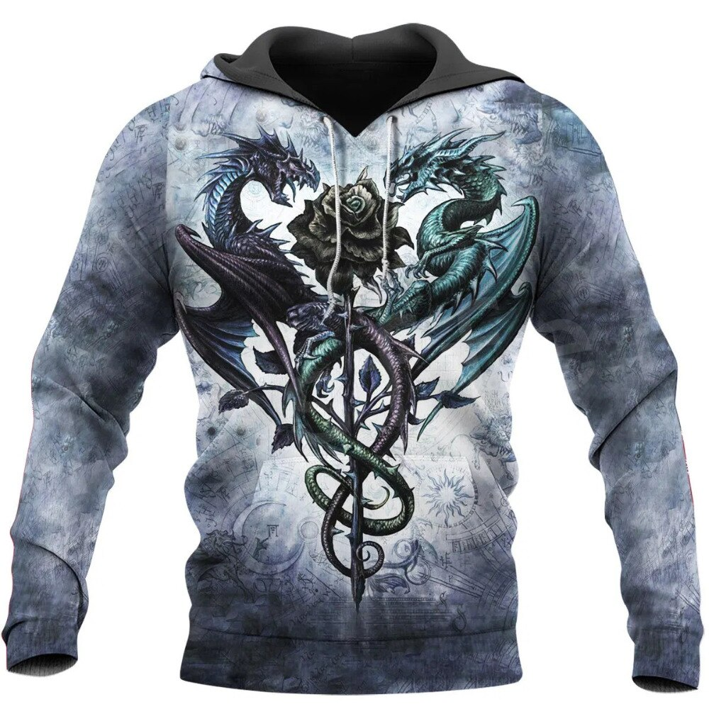2020 arte animal quente voar dragão símbolo tatuagem unisex 3 dprint agasalho newfashion streetwear hoodies topo 89648