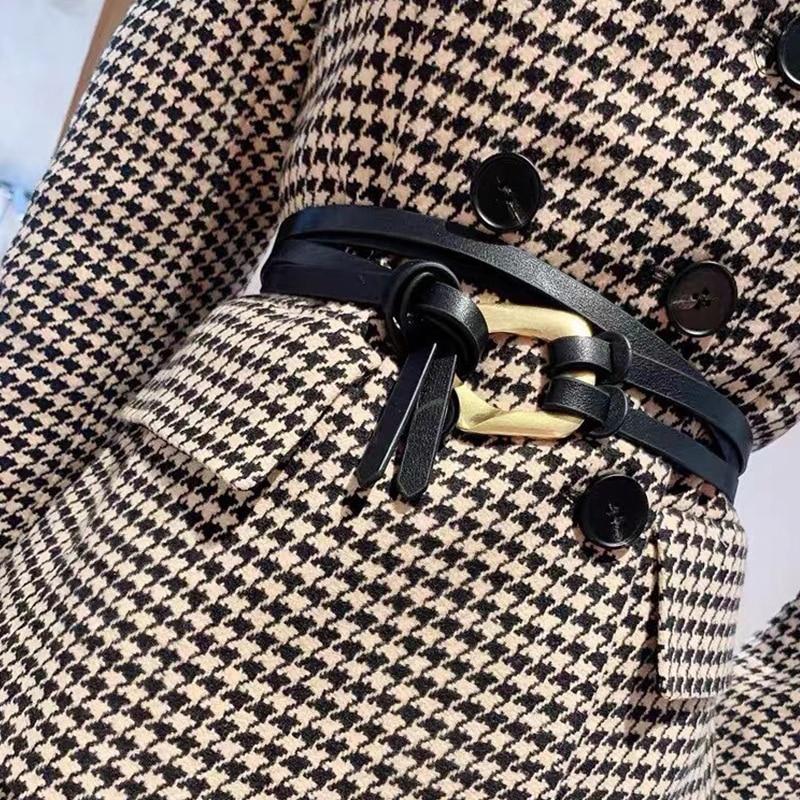 Designer Belts For Women High Quality Long Knot Thin Corset Belt Ladies Waist Jeans Cinturon Mujer D