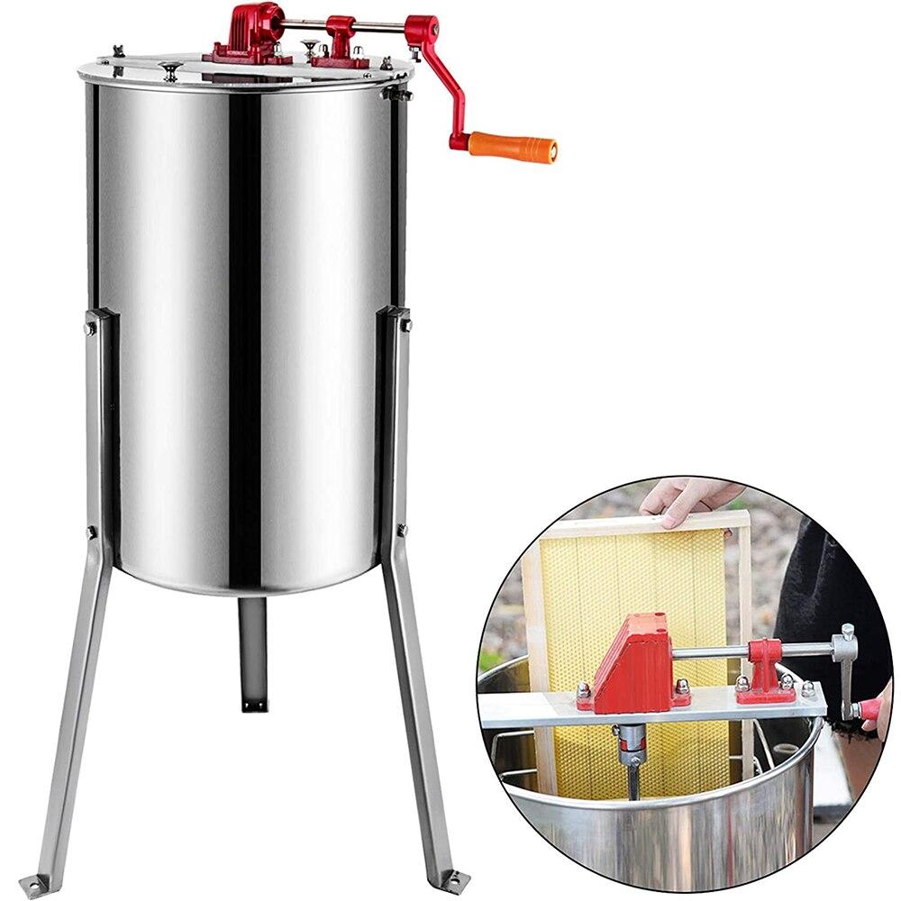 vevor-manual-extractor-de-miel-2-3-4-marco-de-acero-inoxidable-de-nido-de-abeja-spinner-manivela-abeja-centrifugadora-miel-suministros-de-equipo