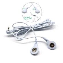 2.5mm 2 voies électrode câble prise électrode fils de plomb câbles de connexion avec 2 boutons pour numérique dizaines thérapie Machine masseur