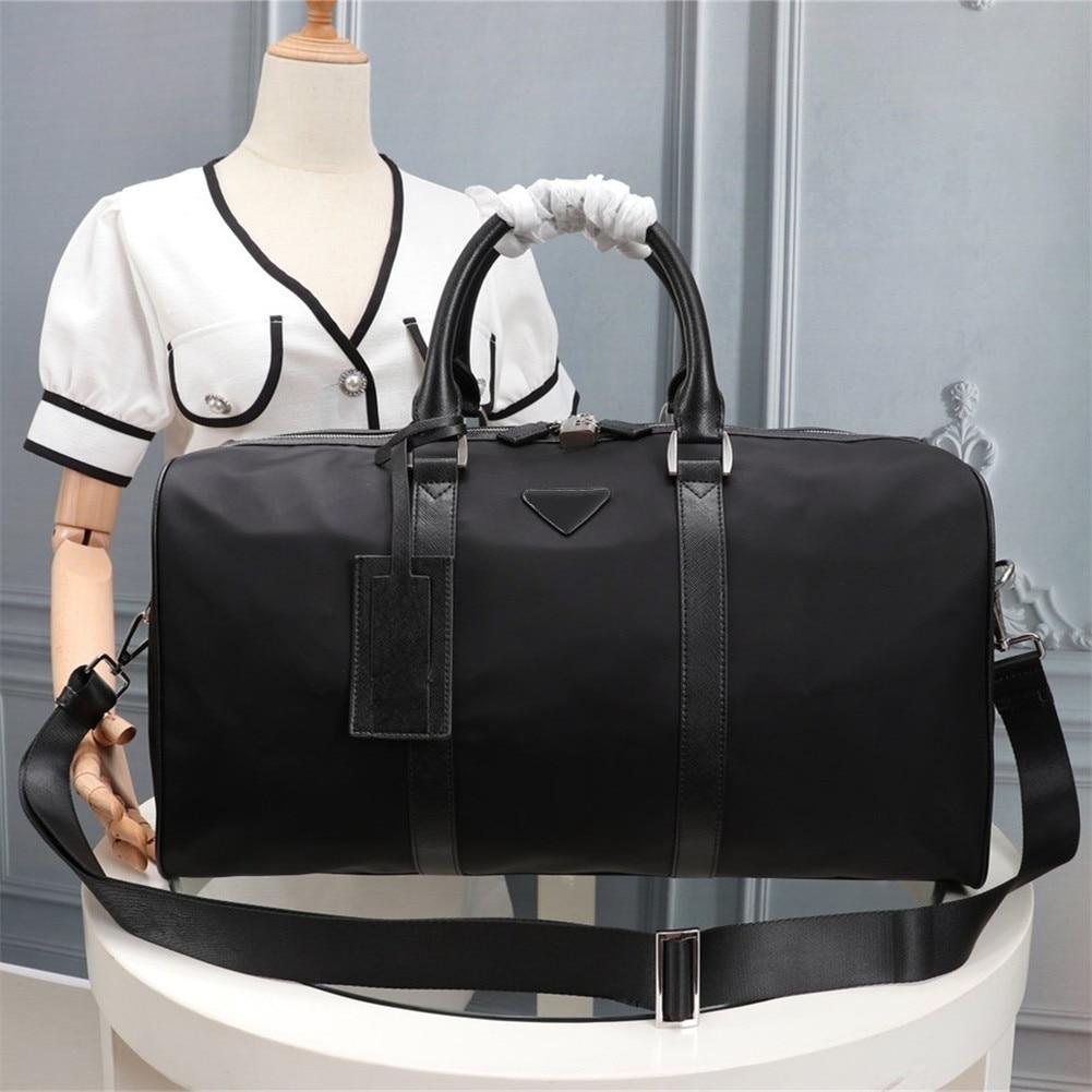 Men's nylon travel bagMen's large-capacity handbag Casual all-match waterproof travel bag with password lock Travel bag