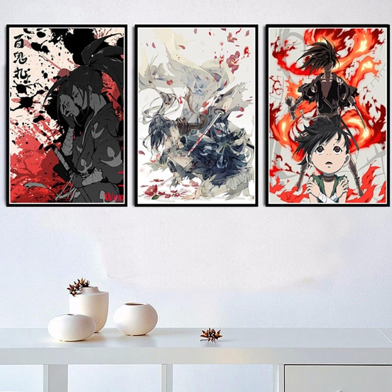 Lienzo pintura decoración del hogar impreso Japón Dororo Anime Estilo nórdico imágenes modulares póster para niños habitación pared arte