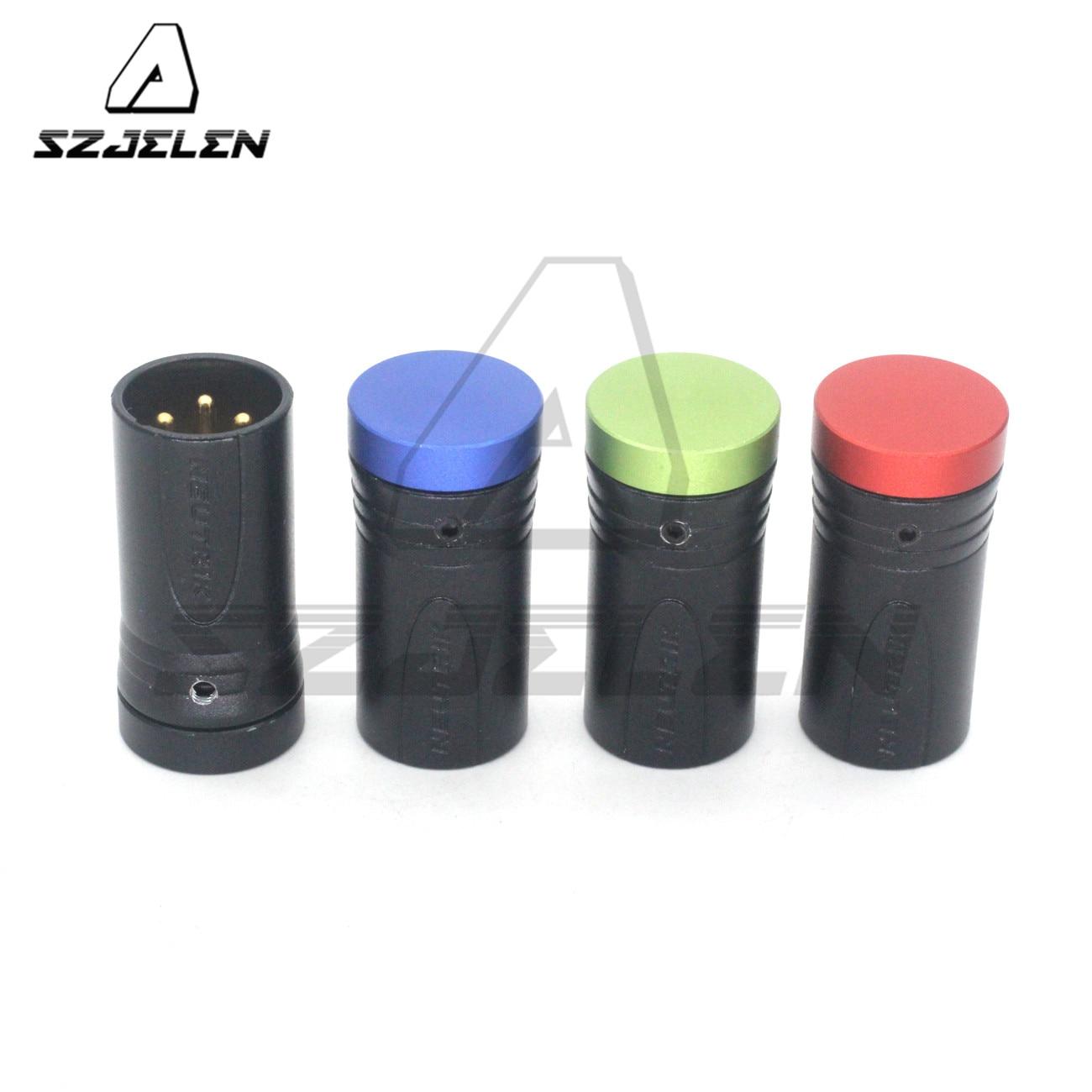 أحمر أزرق أسود أخضر منخفض الملف الشخصي XLR NEUTRIK 3pin XLR وصلات صوت الذكور