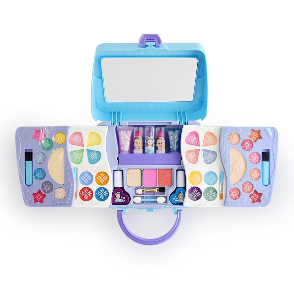 Kids Girl Makeup Toys Kit Washable Fun Cosmetics Set For Girls Princess Lipstick Makeup Toy Handbag Bag Set