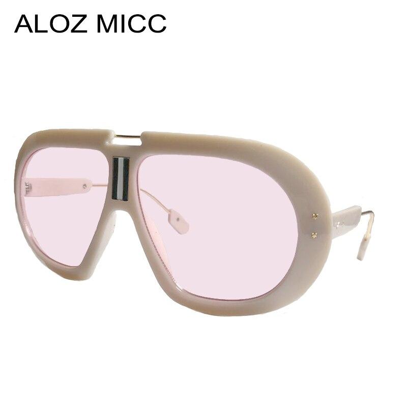 ALOZ MICC Oval Vintage gafas de sol de las mujeres hombres, diseñador de marca de Metal Steampunk redondo gafas de sol Unisex gafas UV400 Q232