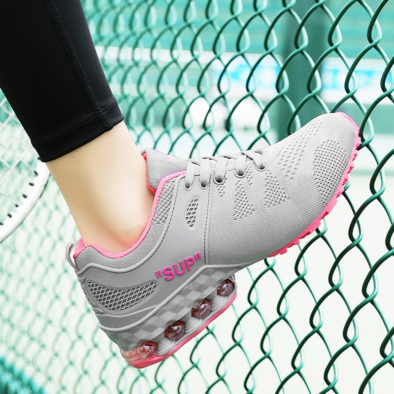 Fashion Women Sneakers Air Cushion Running Shoes Women Outdoor Sports Tennis Shoes Breathable Mesh Lightweight Walking Sneakers 2020 spring leisure women sneakers breathable outdoor walking non slip jogging lightweight shoes fashion female sneakers