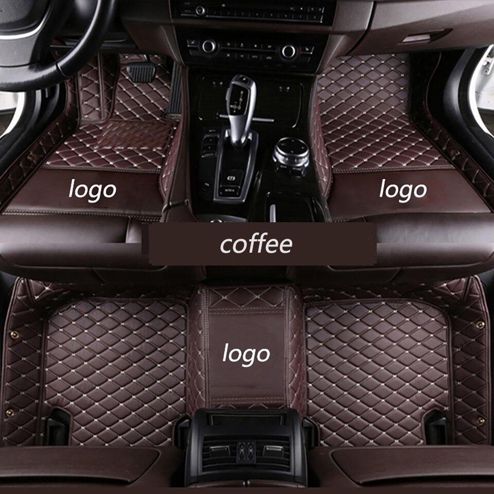 ZRCGL Individuelles logo Auto boden matte für Jaguar Alle Modelle F-PACE XJL XE F-TYPE XK XFL XEL XF auto zubehör auto styling