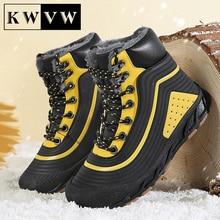 Plus Velvet Kids Shoes Winter Warm Children Snow Sneakers Leather Pinhole Breathable Boy Sport Casua