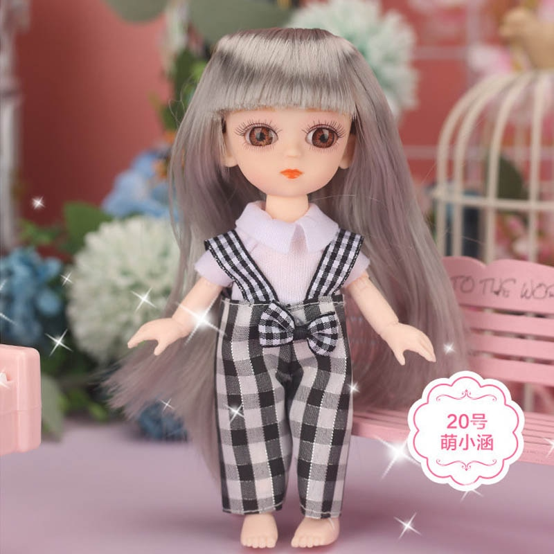 OB11 Doll Accessories Fashion Cute Outfit Doll's Clothes For 1/12  BJD Doll 16cm недорого