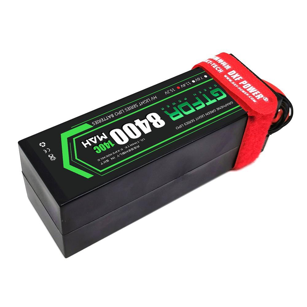 GTFDR 2PCS lipo battery 2S 3S 4S 7.6V 11.4v 15.2v 11.1V 8400mah 6500mah 80C 160C 140C 280C hardcase For 1/8 car Helicopter Car enlarge