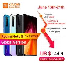 Version mondiale Xiaomi Note 8 4 go RAM 128 go ROM téléphone Mobile Note 8 Snapdragon 665 charge rapide 4000mAh batterie 48MP SmartPhone