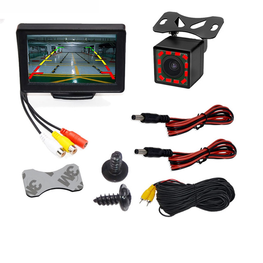 Parking Backup Car Monitor 4.3 or 5 inch Screen for Rear View Reverse Camera TFT LCD Display HD Digital Color 4.3 Inch PAL/NTSC